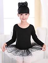 abordables -Danse classique Robes Fille Entraînement / Utilisation Elasthanne / Lycra Dentelle / Ruché Manches Longues Robe