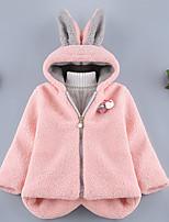 Недорогие -Дети (1-4 лет) Девочки Активный Повседневные Контрастных цветов Длинный рукав Обычная Полиэстер Куртка / пальто Розовый 100