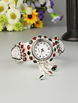 baratos -FEIS Mulheres Bracele Relógio Quartzo Prata Cronógrafo Analógico-Digital senhoras Fashion - camuflagem verde