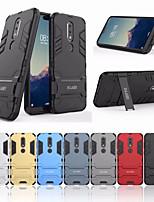 Недорогие -Кейс для Назначение Nokia Nokia X6 Защита от удара / со стендом Кейс на заднюю панель Однотонный Твердый ПК для Nokia X6