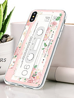 baratos -Capinha Para Apple iPhone XS Ultra-Fina / Estampada Capa traseira Punk Macia TPU para iPhone XS