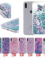 abordables -Coque Pour Apple iPhone XR / iPhone XS Max Antichoc / Liquide / Transparente Coque Cœur / Brillant Dur PC pour iPhone XS / iPhone XR / iPhone XS Max