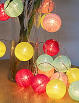 baratos -3M Cordões de Luzes 20 LEDs Multicolorido Decorativa Baterias AA alimentadas 1conjunto