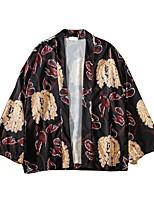 Недорогие -женская хлопковая свободная блузка - цветочная v шея