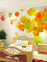 Недорогие -обои / фреска холст Облицовка стен - Клей требуется Деревья / листья / Рисунок / 3D