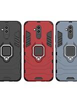 Недорогие -Кейс для Назначение Huawei Huawei Mate 20 Lite Защита от удара / Кольца-держатели Кейс на заднюю панель Однотонный / броня Твердый ПК для Huawei Mate 20 lite