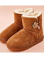 Недорогие -Девочки Обувь Кожа Зима Зимние сапоги Ботинки для Дети Серый / Розовый / Верблюжий