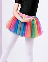 abordables -Danse classique Bas Fille Entraînement Polyester Combinaison Taille basse Jupes