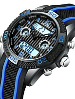 Недорогие -Муж. Спортивные часы Наручные часы Японский Японский кварц 30 m ЖК экран С двумя часовыми поясами Фосфоресцирующий силиконовый Группа Аналого-цифровые На каждый день Мода / Один год
