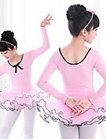 abordables -Danse classique Robes Fille Entraînement / Utilisation Elasthanne / Lycra Plissé / Combinaison Manches Longues Robe