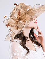 cheap -Queen Elizabeth Audrey Hepburn Retro Vintage Kentucky Derby Hat Fascinator Hat Women's Organza Costume Hat Golden / Purple / Pink Vintage Cosplay Party Party Evening