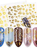 Недорогие -16 pcs 3D наклейки на ногти Наклейка для переноса воды Креатив маникюр Маникюр педикюр Многофункциональный / Лучшее качество Мода Повседневные