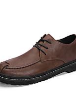 Недорогие -Муж. Кожаные ботинки Кожа Осень Туфли на шнуровке Черный / Коричневый / Для вечеринки / ужина