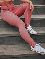 abordables -Femme Poche Pantalon de yoga - Vert, Rouge foncé, Bleu clair Des sports Couleur unie Leggings Course / Running, Fitness, Faire des exercices Tenues de Sport Doux, Butt Lift, Contrôle du Ventre / Slim