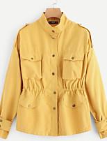 Недорогие -женская куртка - сплошной цветной подставка