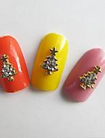 Недорогие -10 pcs Стразы для ногтей Многофункциональный / Лучшее качество Креатив Новогодняя ёлка маникюр Маникюр педикюр Рождество модный / Мода