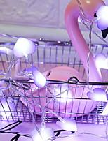 Недорогие -3M Гирлянды 20 светодиоды Фиолетовый Декоративная Аккумуляторы AA 1 комплект