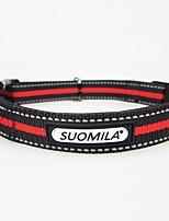 billiga -Hund Halsband Reflekterande / Andningsfunktion / Justerbar storlek Klassisk / Brittisk Nylon / Legering Röd