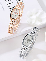 cheap -Women's Quartz Watches Fashion Silver Rose Gold Alloy Chinese Quartz Golden+Black Golden+White White Casual Watch 1 pc Analog One Year Battery Life