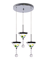 abordables -CONTRACTED LED 3 lumières Cône Lampe suspendue Lumière d'ambiance Plaqué Métal Acrylique Style mini, Mignon, Créatif 110-120V / 220-240V