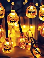 baratos -6m Cordões de Luzes 30 LEDs Branco Quente Decorativa Alimentado por Energia Solar 1conjunto