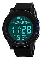 Недорогие -Муж. электронные часы Цифровой Календарь С двумя часовыми поясами Фосфоресцирующий Plastic Группа Цифровой Мода Черный - Черный Зеленый Синий