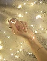 abordables -4m Guirlandes Lumineuses 40 LED Blanc Chaud Décorative Piles AA alimentées 1 set