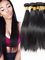 Недорогие -6 Связок Индийские волосы Прямой Натуральные волосы Человека ткет Волосы Пучок волос One Pack Solution 8-28 дюймовый Естественный цвет Ткет человеческих волос Шелковистость Гладкие Женский