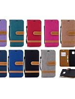 Недорогие -Кейс для Назначение Huawei Huawei Mate 20 Lite / Huawei Mate 20 Pro Кошелек / Бумажник для карт / со стендом Чехол Плитка Твердый текстильный для Mate 10 / Mate 10 lite / Huawei Mate 20 lite