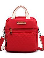 Недорогие -Жен. Мешки холст рюкзак Молнии Сплошной цвет Черный / Красный