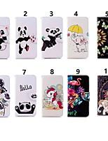 billiga -fodral Till Huawei P20 lite / Huawei P Smart Plus Plånbok / Korthållare / med stativ Fodral Elefant / Panda Hårt PU läder för Huawei P20 / Huawei P20 Pro / Huawei P20 lite / P10 Lite