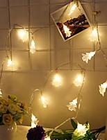 abordables -3M Guirlandes Lumineuses 30 LED Blanc Chaud Décorative Piles AA alimentées 1 set