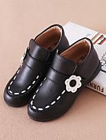 Недорогие -Девочки Обувь Искусственная кожа Зима Ботильоны Ботинки для Черный / Красный