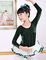abordables -Danse classique Robes Fille Entraînement / Utilisation Coton / Polyester Dentelle / Combinaison Manches Longues Robe
