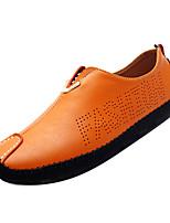Недорогие -Муж. Обувь для вождения Кожа Осень Английский Мокасины и Свитер Дышащий Черный / Оранжевый / Темно-синий