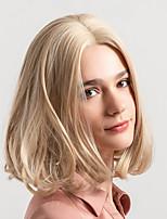 Недорогие -Парики из искусственных волос Жен. Естественный прямой Блондинка Стрижка боб Искусственные волосы 12 дюймовый Новое поступление / Природные волосы Блондинка Парик Средняя длина Без шапочки-основы