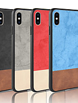 baratos -Capinha Para Apple iPhone XR / iPhone XS Max Áspero Capa traseira Sólido Rígida PU Leather para iPhone XS / iPhone XR / iPhone XS Max