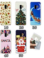 baratos -Capinha Para Samsung Galaxy S9 Plus / S9 Estampada Capa traseira Natal Macia TPU para S9 / S9 Plus / S8 Plus