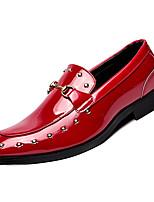 Недорогие -Муж. Комфортная обувь Полиуретан Осень На каждый день Мокасины и Свитер Доказательство износа Черный / Красный