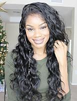 Недорогие -Натуральные волосы 6x13 Тип замка Лента спереди Парик Бразильские волосы Естественные кудри Loose Curl Парик Глубокое разделение 150% Плотность волос / Природные волосы / с детскими волосами