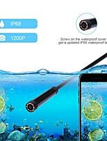 Недорогие -8 мм водонепроницаемый беспроводной wifi эндоскоп камера инспекция 3000 мм