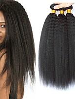 Недорогие -3 Связки Бразильские волосы / Малазийские волосы Вытянутые Натуральные волосы / Необработанные натуральные волосы Подарки / Косплей Костюмы / Головные уборы 8-28 дюймовый Естественный цвет