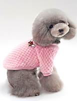 baratos -Cachorros / Gatos Súeters Roupas para Cães Sólido Azul / Rosa claro Algodão Ocasiões Especiais Para animais de estimação Unisexo Mantenha Quente / Lazer