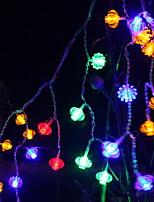 Недорогие -1,5 м Гирлянды 48 светодиоды Разные цвета Декоративная 220-240 V 1 комплект