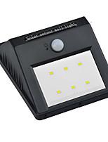 Недорогие -1шт 3 W Солнечный свет стены Работает от солнечной энергии / Инфракрасный датчик / Декоративная Белый 3.7 V Уличное освещение 6 Светодиодные бусины