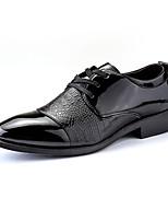Недорогие -Муж. Комфортная обувь Полиуретан Зима Туфли на шнуровке Черный
