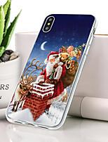 Недорогие -Кейс для Назначение Apple iPhone XR Защита от пыли / Ультратонкий / С узором Кейс на заднюю панель Рождество Мягкий ТПУ для iPhone XR