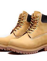 Недорогие -Жен. Наппа Leather Зима Ботинки На толстом каблуке Ботинки Желтый