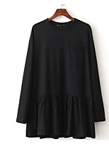 Недорогие -женская свободная блузка - сплошная цветная шея