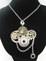 Недорогие -Муж. Старинный Заявление ожерелья - Шестерня Массивный, Винтаж, Steampunk Cool Античная бронза 61 cm Ожерелье Бижутерия 1шт Назначение Для улицы, Для клуба
